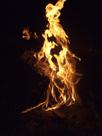 Travel Pictures Of Natural Fire Coming Out The Ground Near Kadirs Treehouses In Southern Turkey