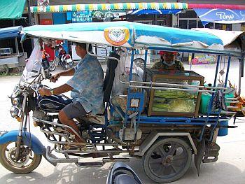 Tuktuk in Koh Phangan, Thailand