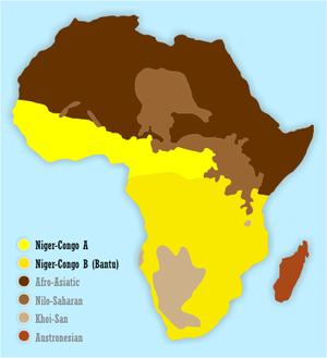 Africa Bantu languages