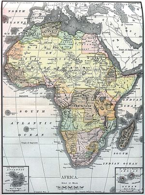 Map of Africa in 1890