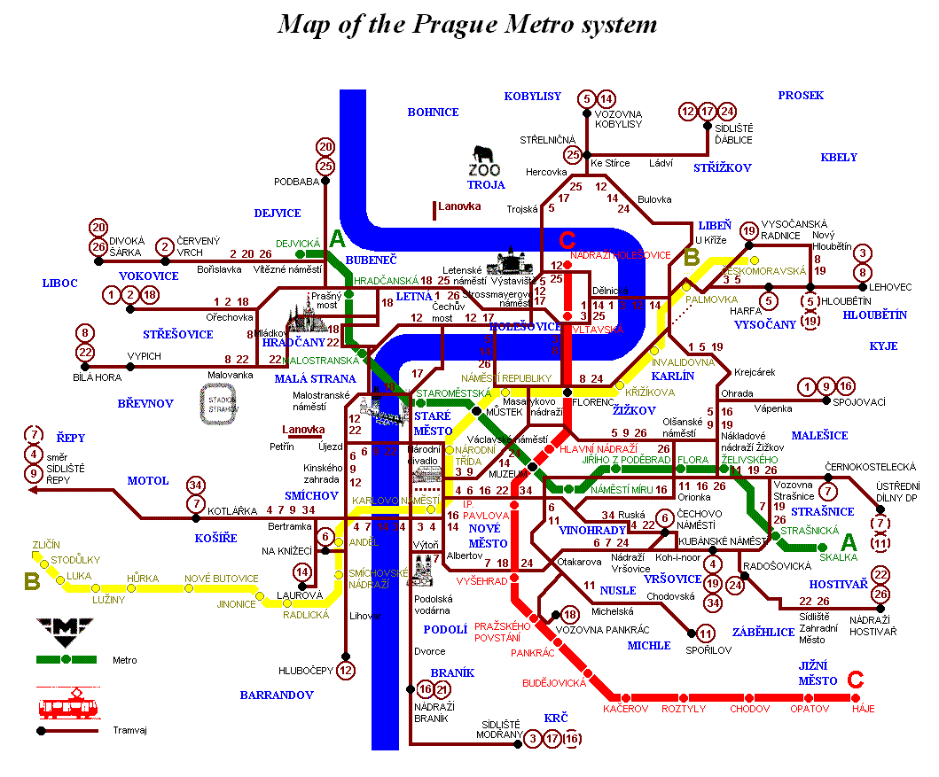 For some pictures of prague metro and publictransportation lines